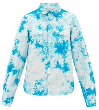 Arizona Love Alba Tie-dye Cotton Shirt - Blue Print