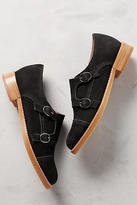 All Black Monk Buckle Oxfords