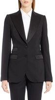Dolce & Gabbana Women's Wool Blend Crepe Tuxedo Jacket