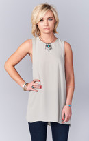 MUMU Sherman Tunic Tank ~ Light Ash Crisp