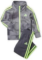 adidas Infant Boys) Two-Piece Grey Tech Tricot Jacket & Track Pants Set