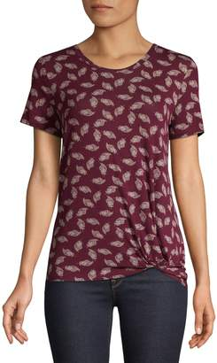 Style&Co. Style & Co. Petite Printed Short-Sleeve Tee