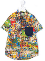 Junior Gaultier graffiti print shirt