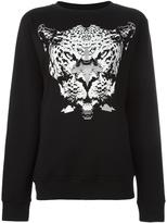 Marcelo Burlon County of Milan tiger print sweatshirt - women - Cotton - XS