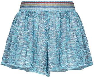 Missoni Mare Metallic Knit Short Shorts