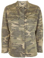 Topshop PETITE Sampson Camo-Printed Shacket