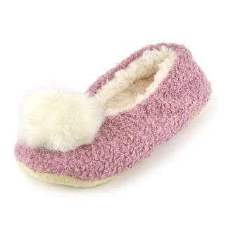 undercover lingerie Ladies Pom Pom Ballet Slippers FT1738 Pink 7-8