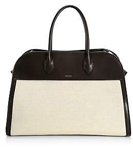 The Row Women's Margaux 15 Canvas & Leather Satchel
