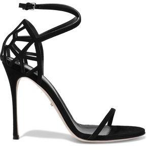 Sergio Rossi Puzzle Laser-cut Suede Sandals