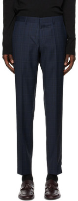 HUGO BOSS Navy Wool Genius5 Trousers