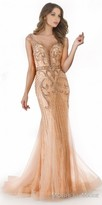 Morrell Maxie Dazzling Embellished Illusion Fitted Evening Dress