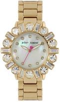 Betsey Johnson Women&s Antique Crystal Bracelet Watch