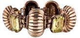Isaac Mizrahi Ribbed Crystal Link Bracelet