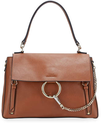 Chloé Faye Day Mixed Flap Medium Shoulder Bag