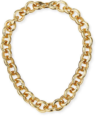 Kenneth Jay Lane Circular Chain-Link Necklace