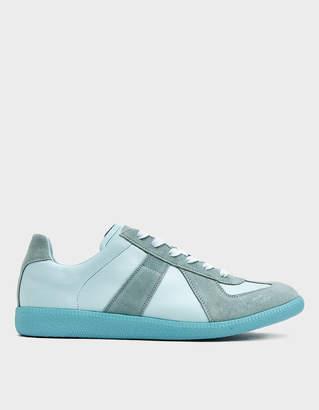 Maison Margiela Men's Replica Low Top Sneaker in Nimbus, Size 40 | Suede/Leather/Rubber