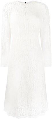 Dolce & Gabbana lace scalloped midi dress