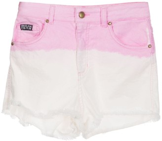 Versace Jeans Couture Two-Tone Denim Shorts