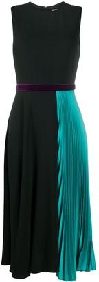 Roksanda Pleated-Panel Silk Dress