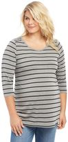 Plus Size Maternity Oh Baby by MotherhoodTM Striped Tunic