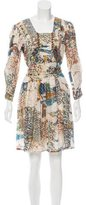 Gucci Metallic Silk Dress w/ Tags