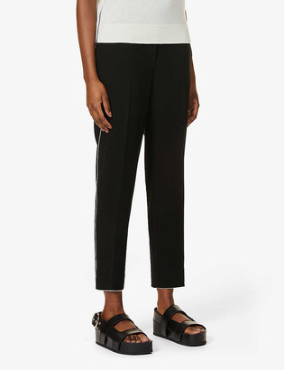 Theory Treeca regular-fit high-rise woven trousers