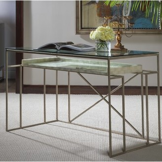 Artistica Cumulus Capiz Glass Desk Home