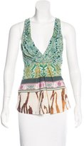 Roberto Cavalli Printed Sleeveless Top
