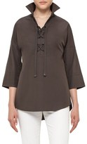 Akris Punto Women's Lace-Up Cotton Tunic