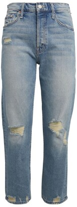 Mother The Tomcat Distressed Straight Jeans