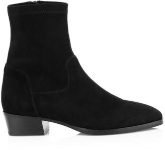 Aquatalia Faran Stretch-Suede Ankle Boots