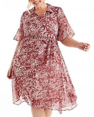Estelle Plus Paprika Animal Print Shirt Dress