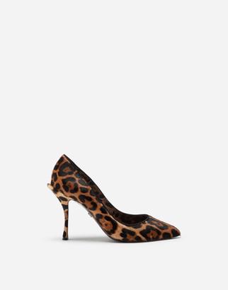Dolce & Gabbana Leopard-Print Pony Hair Pumps