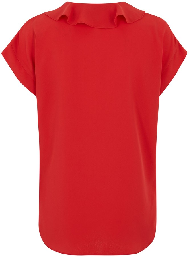 Thumbnail for your product : New Look Ruffle Short Sleeve Blouse
