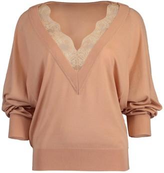 Chloé Milky Pink Lace Trim Sweater
