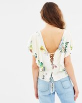 Mng Ruffles Floral Blouse