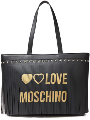 Love Moschino Fringed Faux Leather Tote
