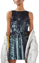 Topshop Low Back Velvet Dress (Petite)