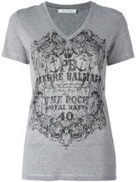 Pierre Balmain logo print T-shirt - women - Cotton/Viscose - 40