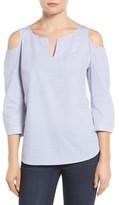 NYDJ Women's Agnes Print Cold Shoulder Cotton Top