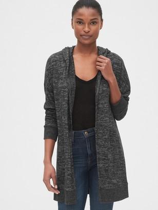 Gap Softspun Longline Hooded Cardigan