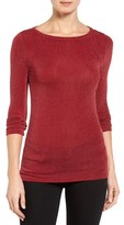 MICHAEL Michael Kors Shimmer Knit Boatneck Top (Regular & Petite)