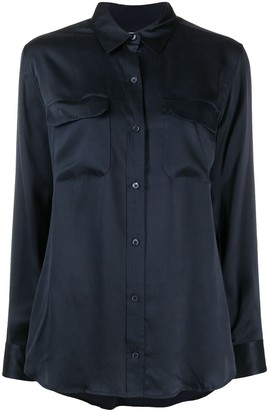 Equipment Classic Collar Silk Shirt