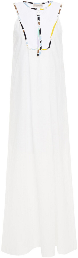 Thumbnail for your product : Emilio Pucci Scuba-paneled Cotton Maxi Dress