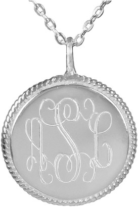 Personalized Engraved Sterling Monogram Necklace