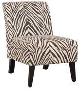 Linon Bradford Accent Chair with Zebra Print