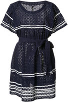 Lisa Marie Fernandez striped detail belted dress - women - Cotton - 1