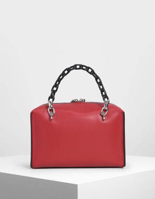 Charles & Keith Double Chain Handle Bag