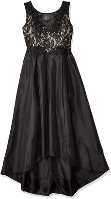 Sangria Women's Lace and Taffeta Ball Gown