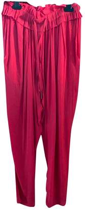 Isabel Marant Red Polyester Trousers